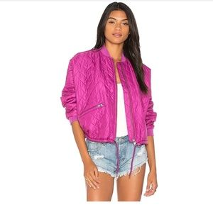 New Free People Easy Quilted Bomber Jacket Medium